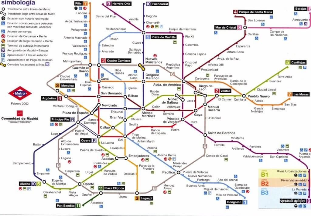METRO MADRYT MAPA